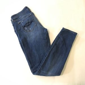 Abercrombie & Fitch Distressed Skinny Jeans 8 Long
